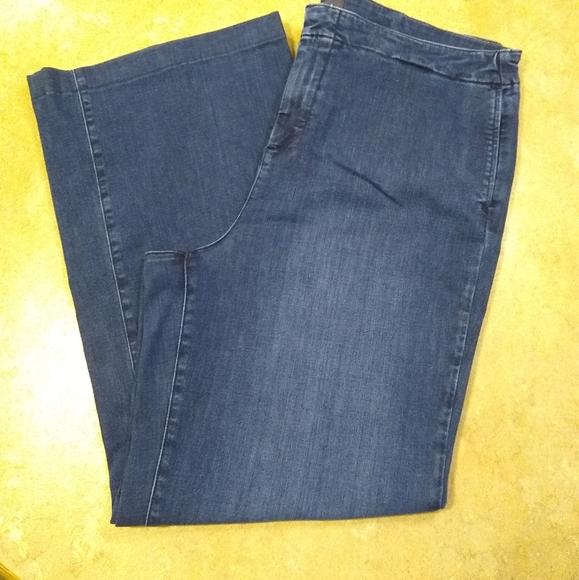 NYDJ wide leg denim trouser jeans